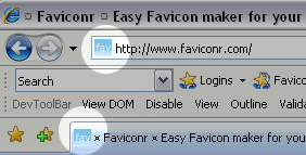 Favicon Internet Explorer
